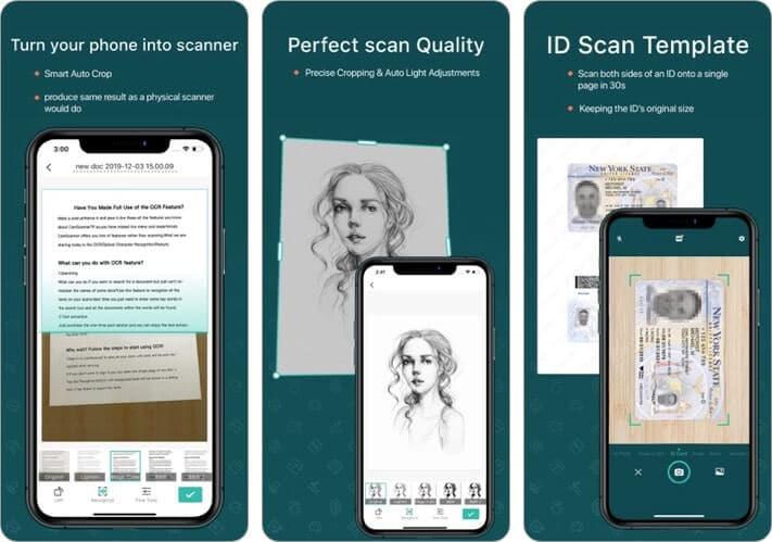 CamScanner Document Scanning iPhone App Screenshot