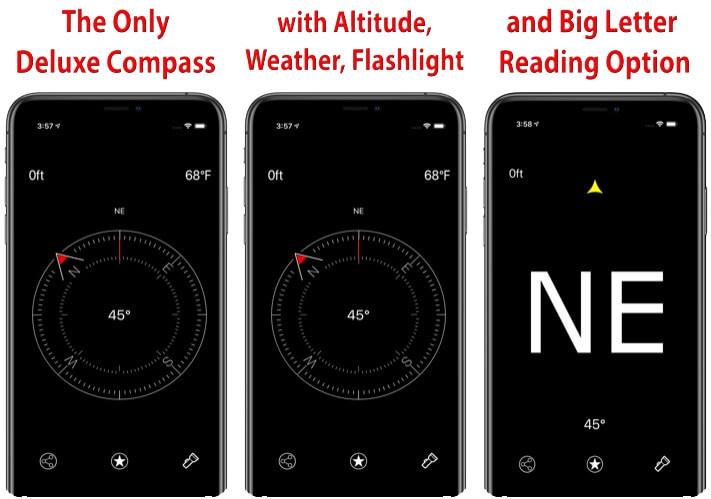 Camera LLC Compass Navigation App for iPhone and iPad