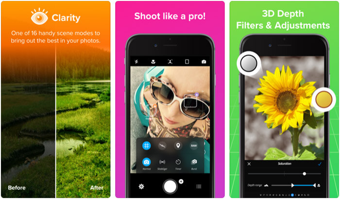 Camera Plus iPhone and iPad App Screenshot