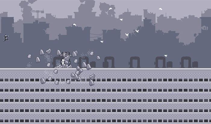 Canabalt iPhone and iPad Arcade Game Screenshot