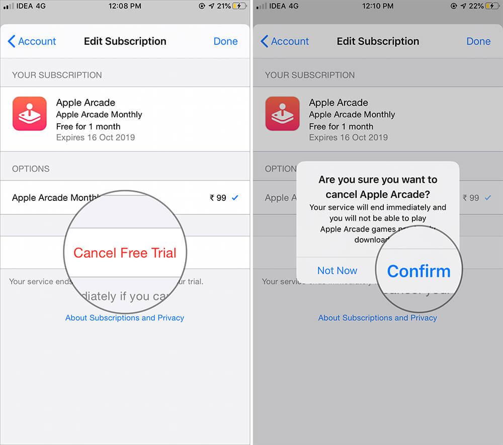 Cancel Apple Arcade Subscription on iPhone or iPad