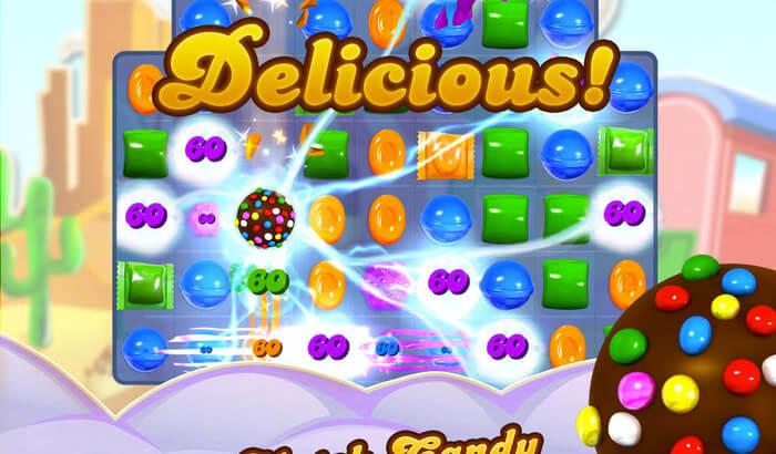 Candy Crush Saga Puzzle iPhone and iPad Game Screenshot
