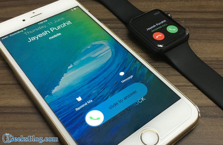 Can't Answer Calls from Apple Watch
