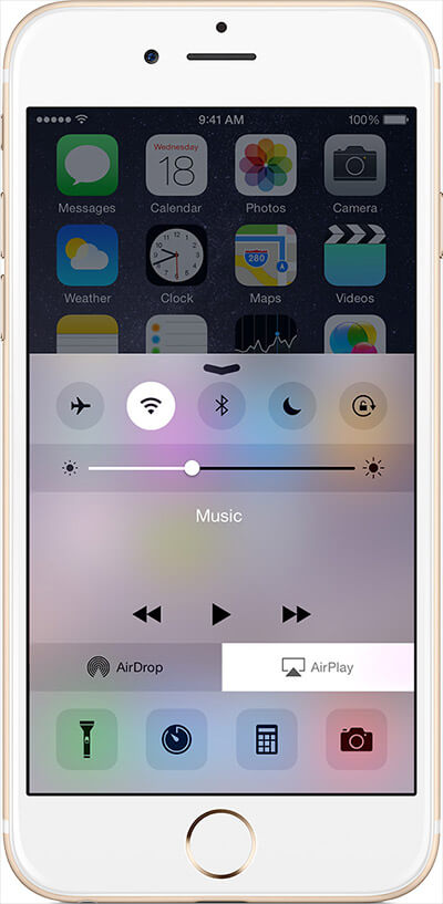 Can't see AirPlay in iPhone Control Centre