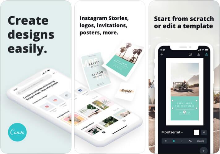 Canva Add Text to Photos iPhone App Screenshot