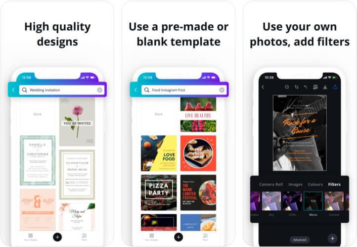 Canva Graphic Design Creator iPhone and iPad App Screenshot