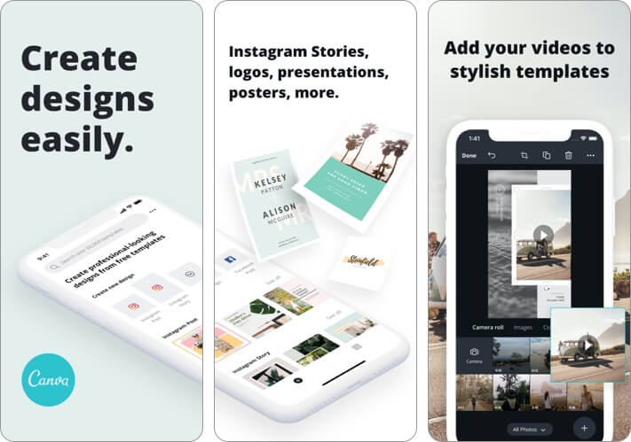 Canva Graphic Desing iPhone and iPad App Screenshot