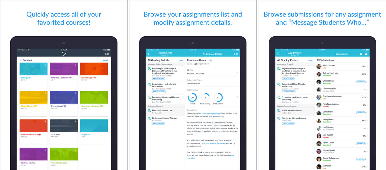 Canvas Teacher iPhone and iPad Teachers App Screenshot