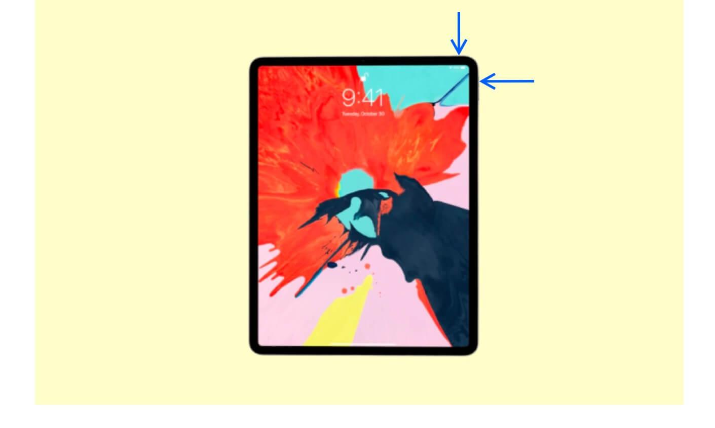 Capture Screenshot on iPad with Face ID