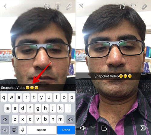 Capture Video in Snapchat on iPhone