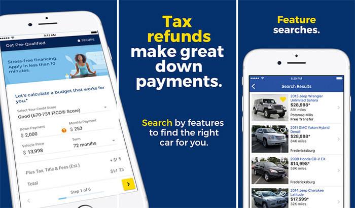 CarMax iPhone and iPad Car Buying App Screenshot