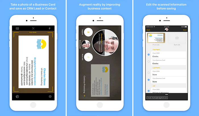 Card Scanner Business Card Readers and Scanners iPhone App Screenshot