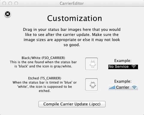 CarrierEditor Mac App