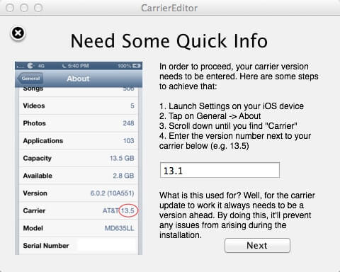 CarierEditor-to Change iPhone Carrier Name