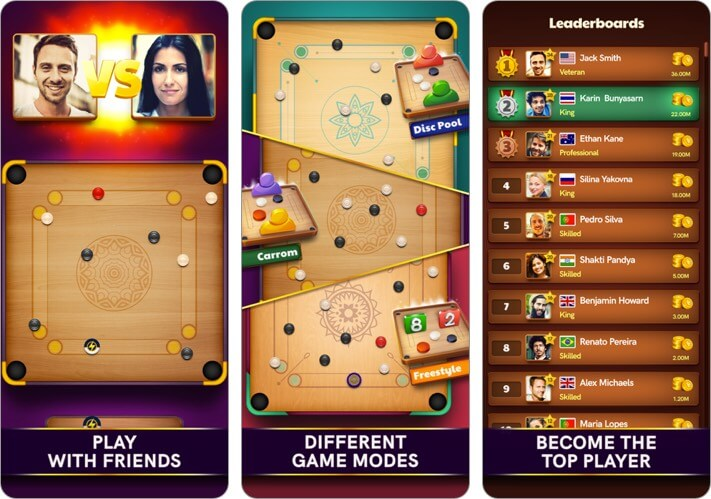 Carrom Pool iOS Game to Play with Friends