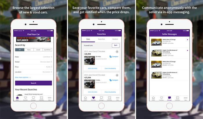 Cars.com iPhone and iPad Car Buying App Screenshot