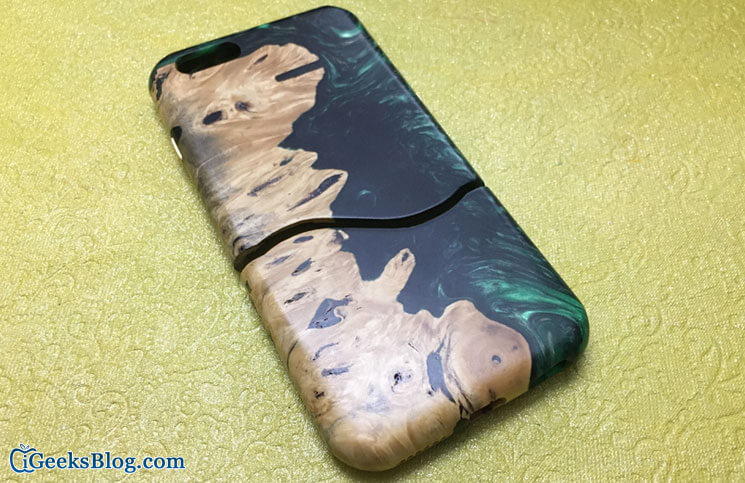 Carved Live Edge Wooden Case for iPhone 6 and iPhone 6s