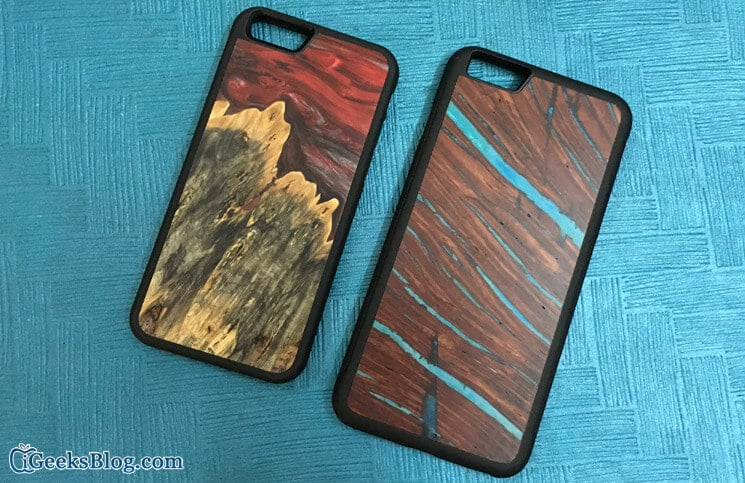 Carved Satellite Series Wooden Case for iPhone 6s-6s Plus