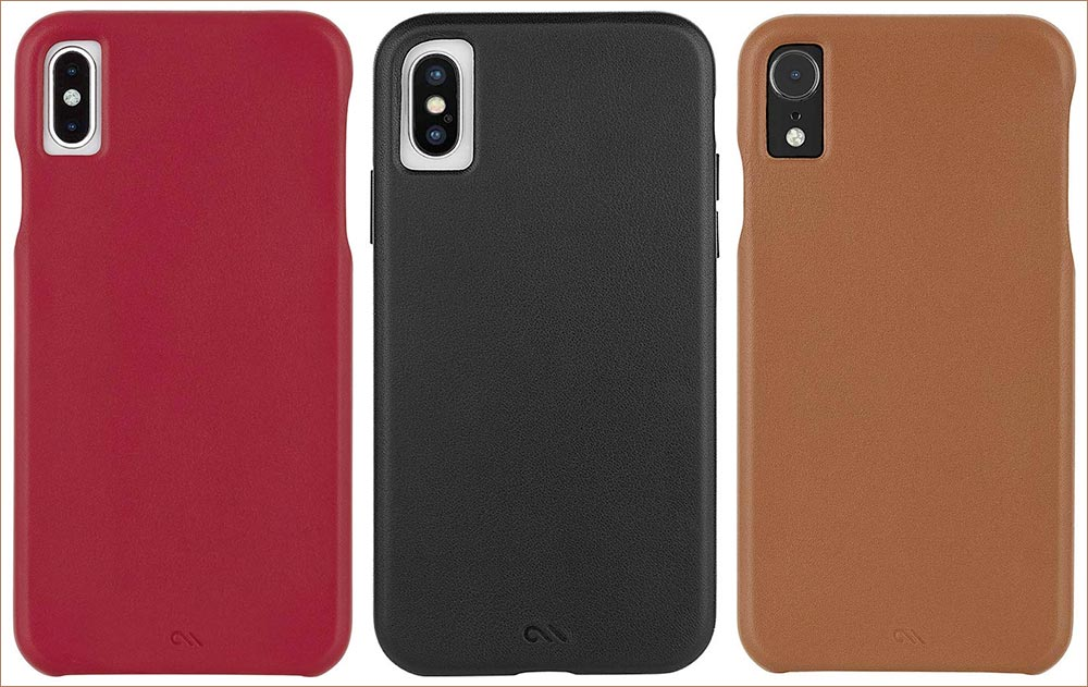 Case Mate BARELY THERE LEATHER iPhone Xs Max, Xs, and iPhone XR Cases