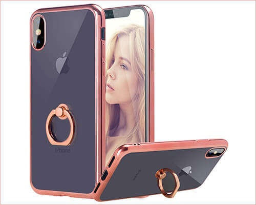 Casetego Ring Holder Case for iPhone Xs Max