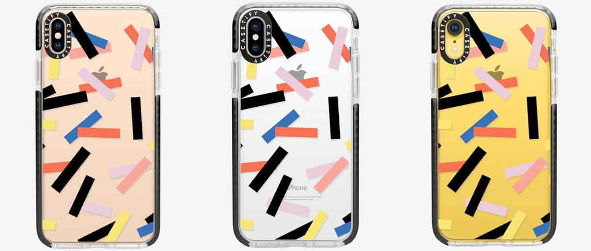 Casetify Confetti iPhone Xs Max, Xs, and iPhone XR Clear Cases
