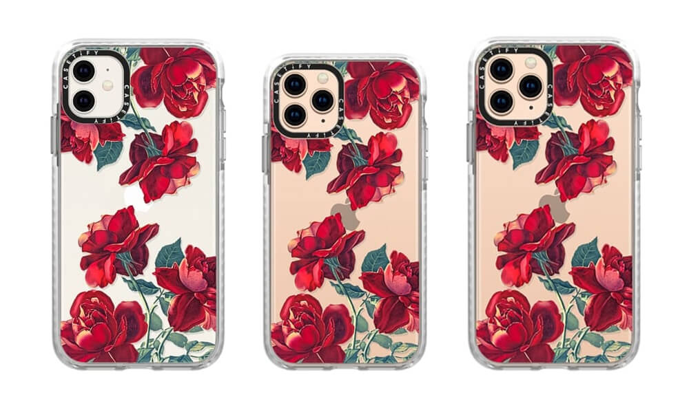 Casetify Red-Roses Pattern Case for iPhone 11 Pro Max