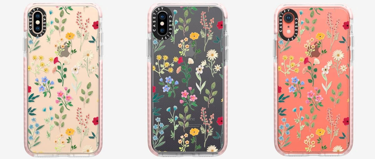 Casetify Spring Botanicals iPhone Xs Max, Xs, and iPhone XR Clear Cases