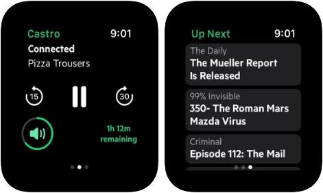 Castro Podcast Player Apple Watch App Screenshot
