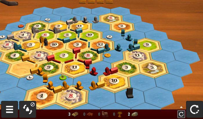 Catan Universe iPhone and iPad Board Game Screenshot