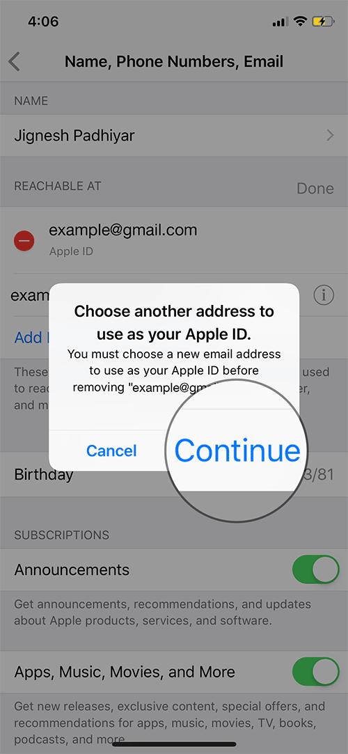 Change Apple ID on iPhone or iPad