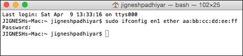 Change MAC Address of Mac