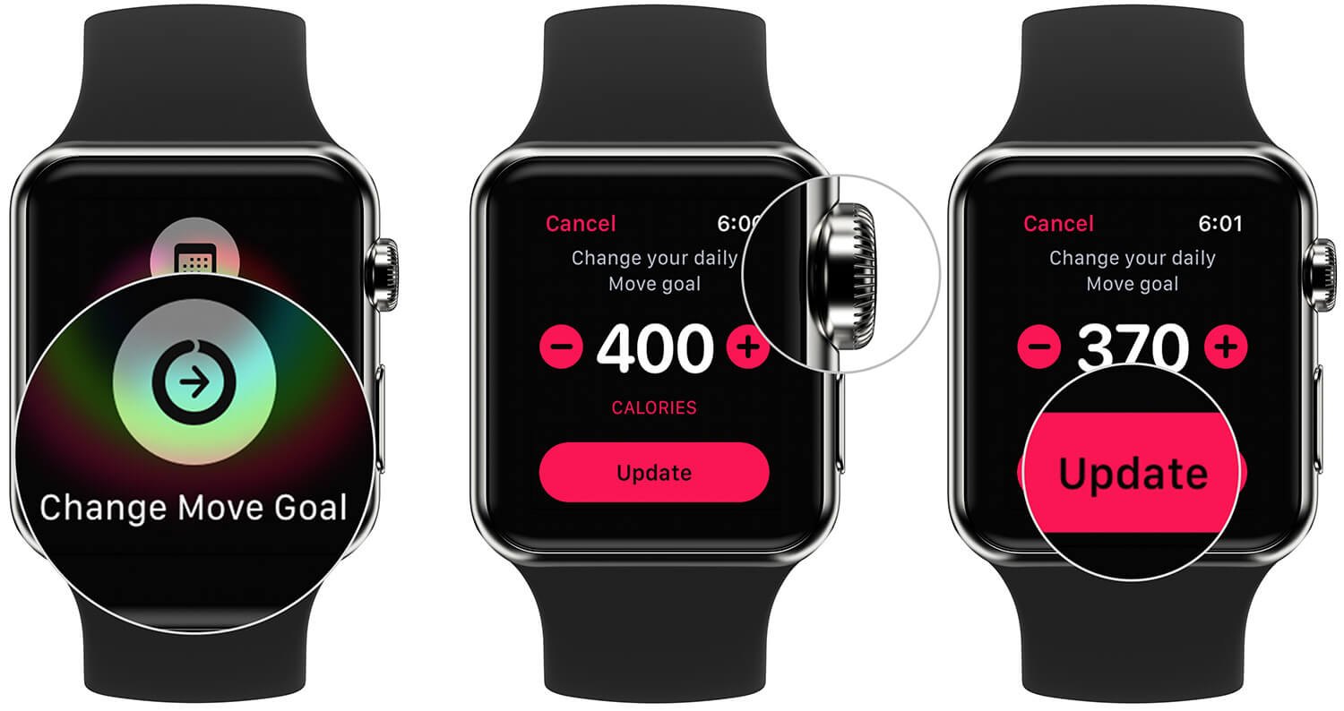 Change Move Goal on Apple Watch