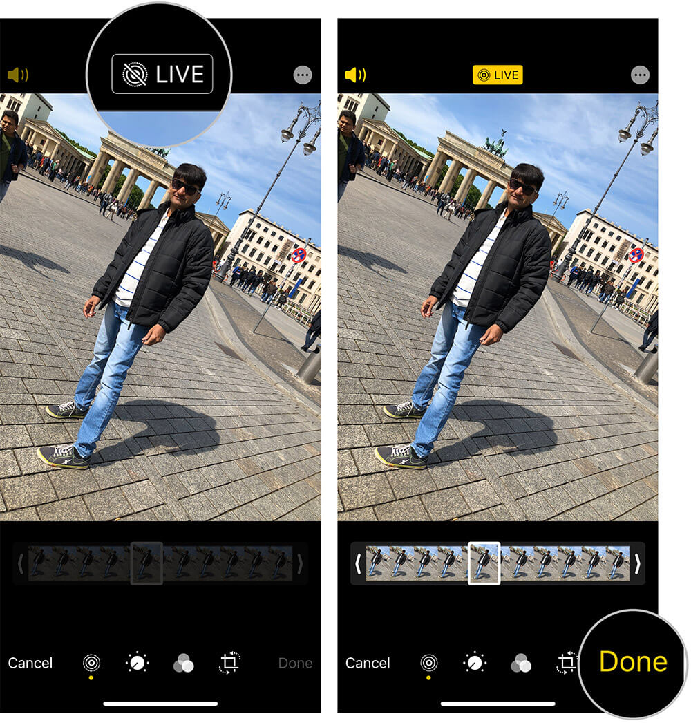 Change Normal Photo to Live Photo on iPhone or iPad
