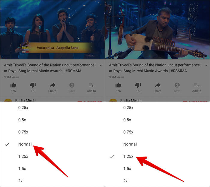 Change Playback Speed in YouTube on iPhone