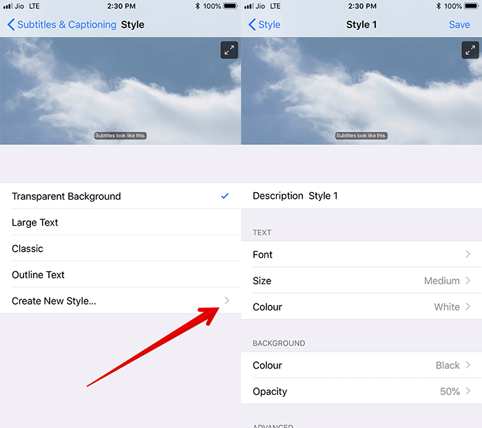 Change Size and Style of Captions on iPhone and iPad