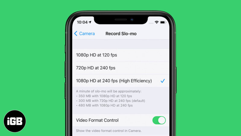 Change Slow Motion Video Recording Speed on iPhone