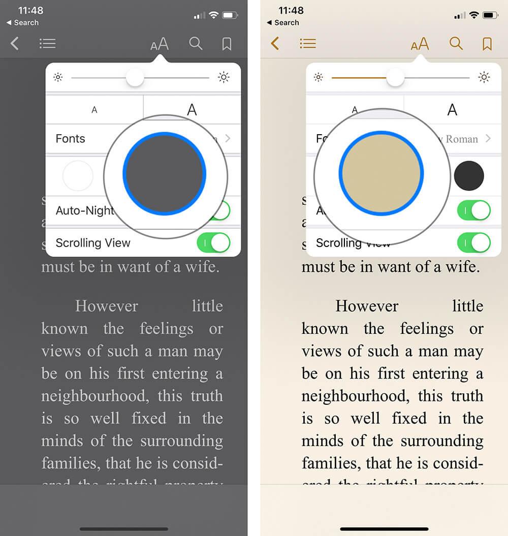 Change Theme in iBooks on iPhone or iPad