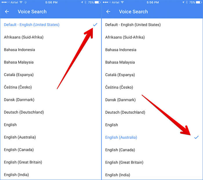 Change Voice Search Language in Google Maps on iPhone and iPad