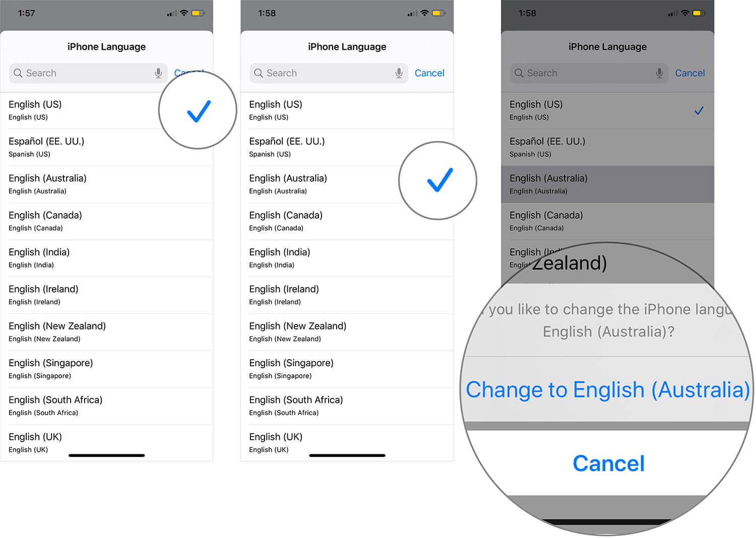 Change iPhone or iPad Language