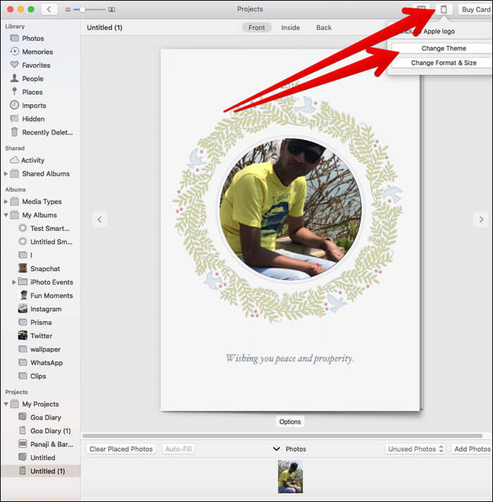 Change the Card Theme in Photos App on Mac