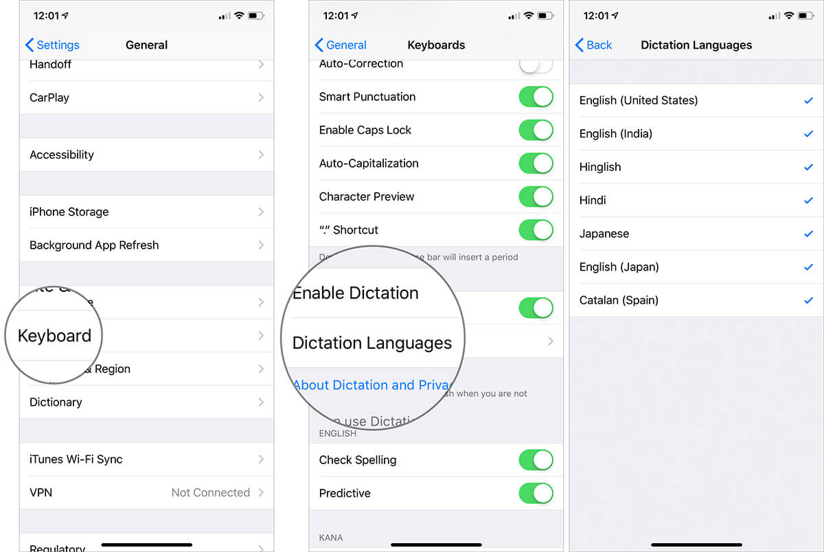 Change the Dictation language on iPhone or iPad