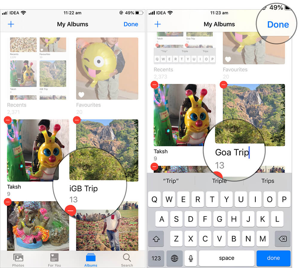 Change the Name of a Photo Album on iPhone or iPad
