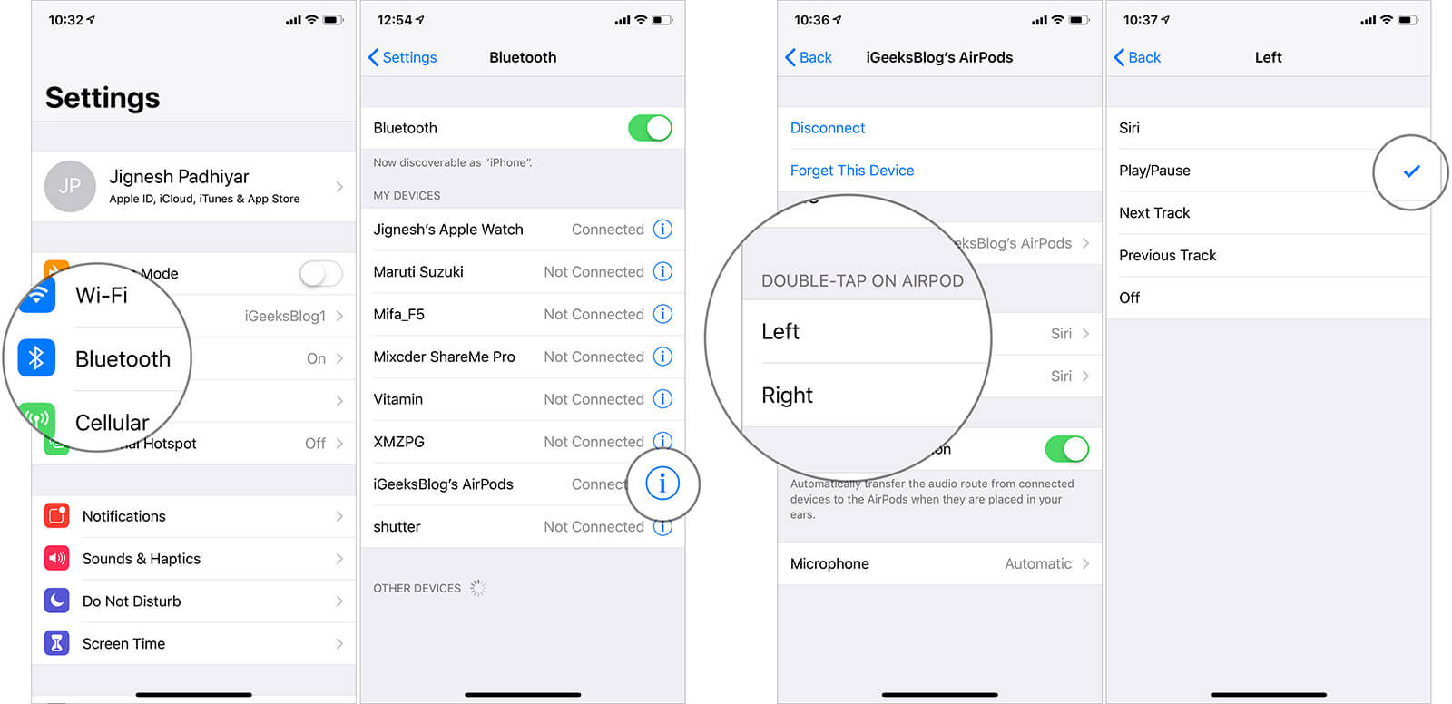 Change the double tap functionality from Siri to Play or Pause