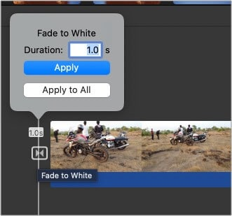 Change the length of transitions in iMovie