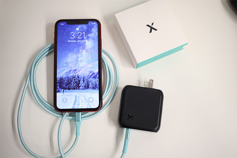Charge iPhone with xDynamo Solo USB-C Charger