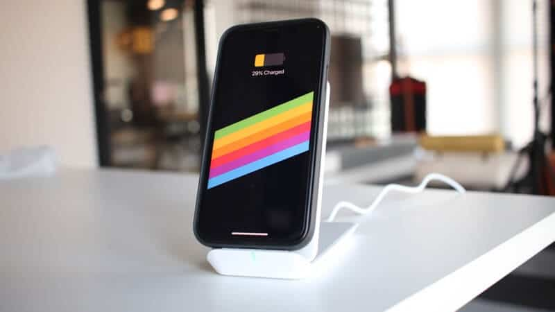 Charging iPhone on ESR Wireless Charger