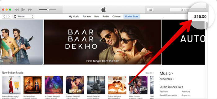 Check App Store Account Balance from iTunes on Mac and Windows PC