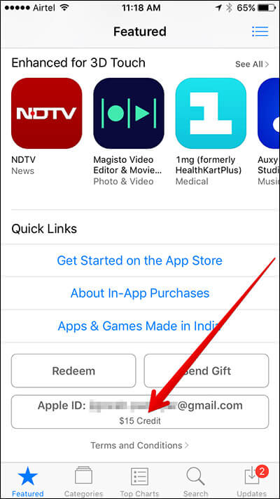 Check Apple ID from App Store on iPhone and iPad