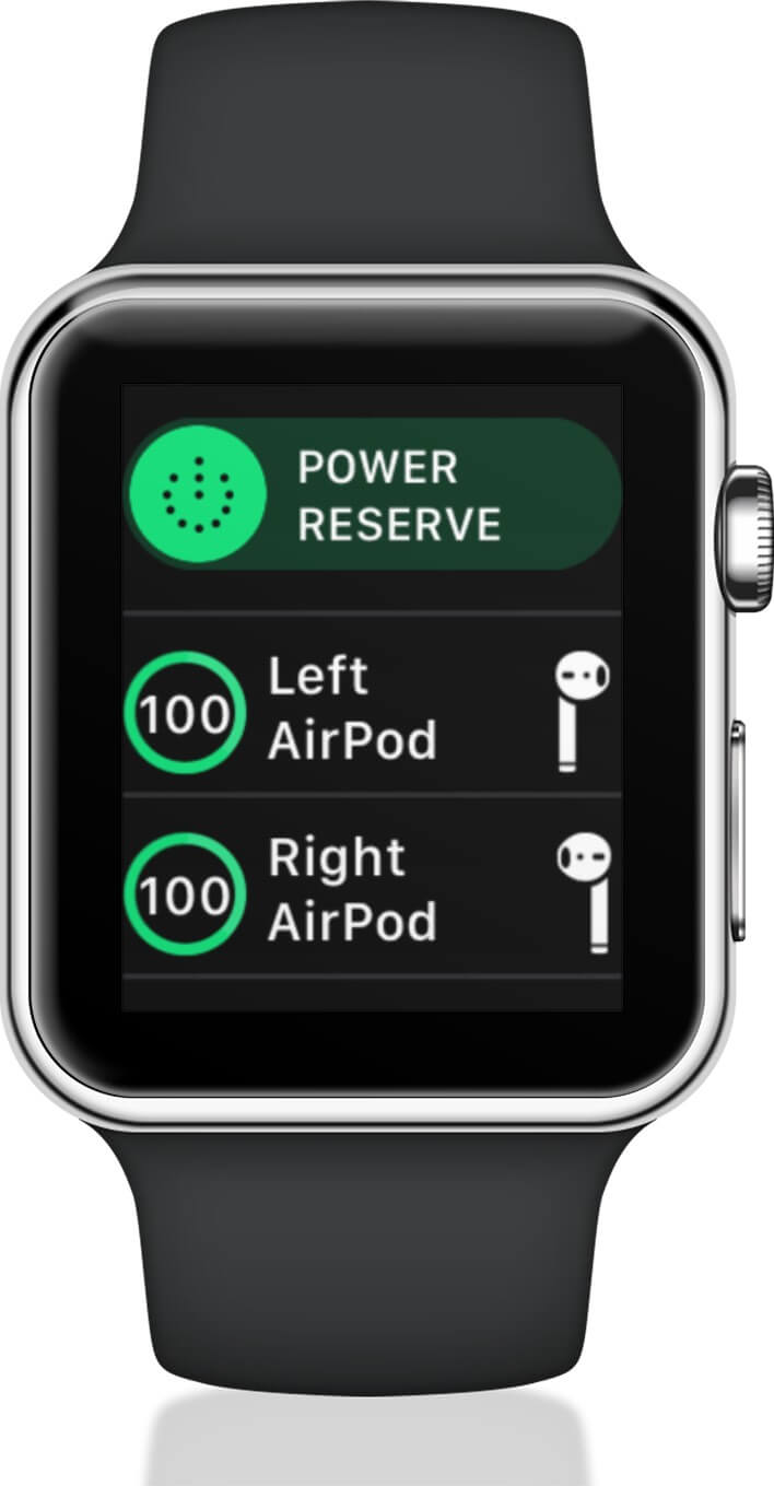 Check Battery Life of Individual AirPod on Apple Watch