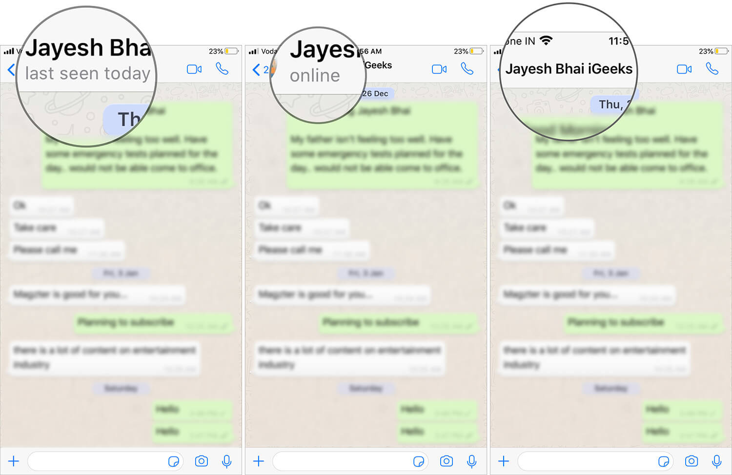 Check Contact's Last Seen or Online Status on WhatsApp